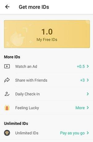 PictureThis app free ids