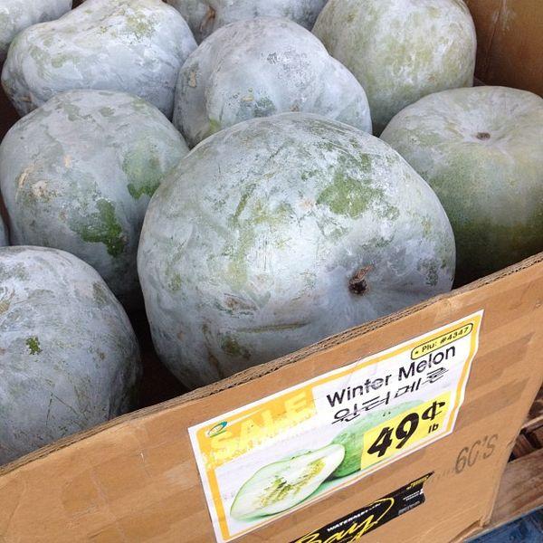 Mature winter melons harvest